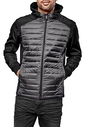 Threadbare Mens Padded Quilted Jacket Coat Warm Lightweight Winter Fashion Hippo,Black,S