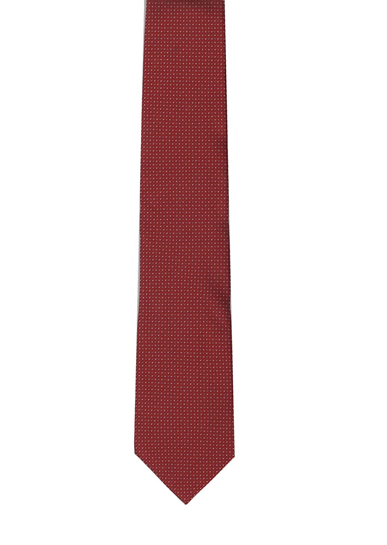 Red Solid Color Tie 100/% Polyester Umo Lorenzo Men/'s Necktie