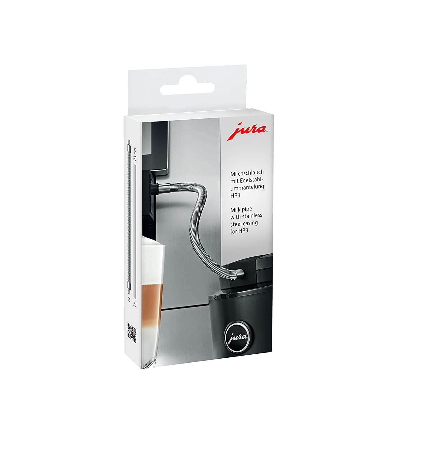 Jura 24114 Milk Tube with Edelstahlummantelung HP3 Silver
