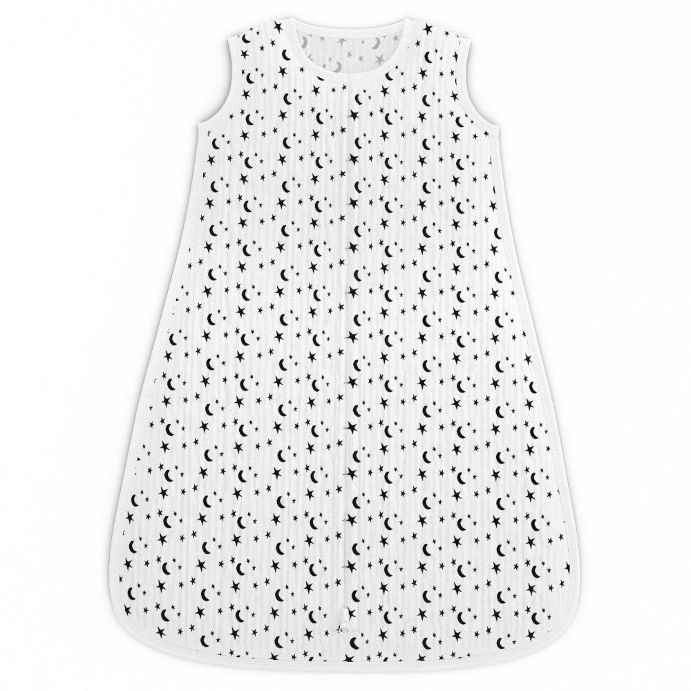 Muslin Cotton Slumber Sack by Fawn Hill Co - Unisex Monochromatic Design for Boys or Girls - Medium