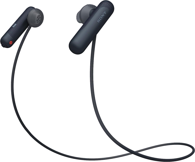 Sony WISP500B, Auriculares, Inalámbrico, Tamaño Único, Negro