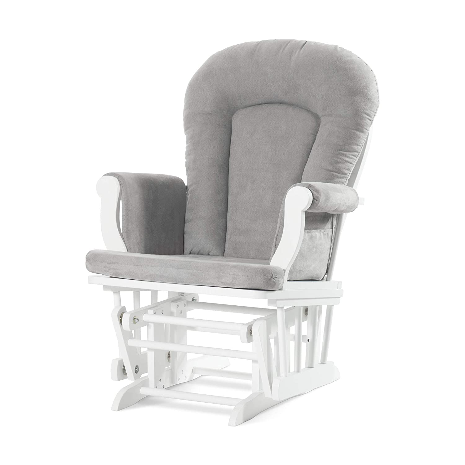 Fantastic Forever Eclectic By Child Craft Cozy Glider And Ottoman Matte White With Light Gray Cushion Inzonedesignstudio Interior Chair Design Inzonedesignstudiocom