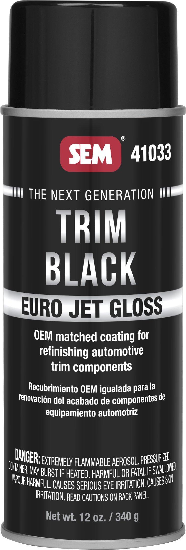 SEM 41033 Trim Black Euro Jet Gloss Undercoating, 12. Fluid_Ounces