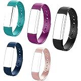 HOTSO ID115 ID 115 115HR Replaceable Strap Length Adjustable Smart Bracelet Fitness Tracker, Set of 5, Black/Purple/ Teal/Pink/ Blue