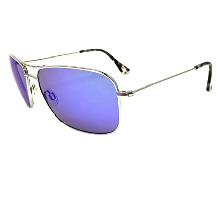 66d9603a178a New Maui Jim Wiki Wiki B246-17Silver  Blue Hawaii Polarized Sunglasses   Amazon.co.uk  Clothing