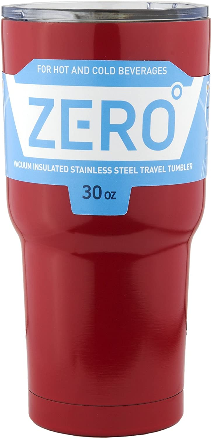 Stainless Steel Tumbler with Lid, Double Wall Vacuum Insulated Travel Mug for Hot and Cold Drink by Zero Degree (30oz Red)