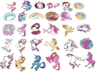 CH 30 Pcs Colorful Cute Unicorn Stickers For Laptop Car Styling Phone Luggage Bike Motorcycle Graffiti