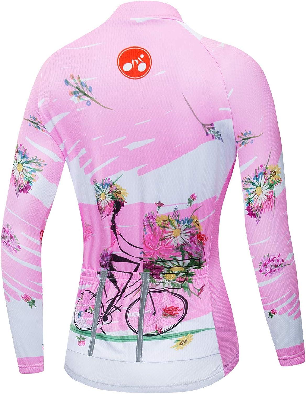 Women Cycling Jersey Long Sleeve Bicycle Biking Shirt Clothing Sport Tops
