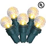 BOHON Christmas String Lights with Diamond Glass Bulbs, 100% UL listed 19FT 70 LED Fairy Lights Plug In, Outdoor/Indoor String Lights for Patio Wedding Party Decor, Warm White