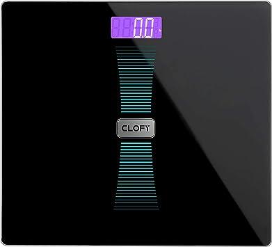 200KG//50g Digitale Körperwaage Körperfettwaage Personenwaage Waage Glas LCD Blau