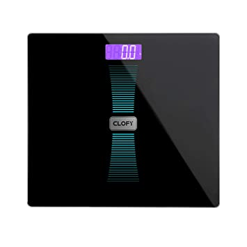 CLOFY Báscula de Baño Digital Alta Medición Precisa 200kg/440Ib/31st, Balanzas Electrónicas