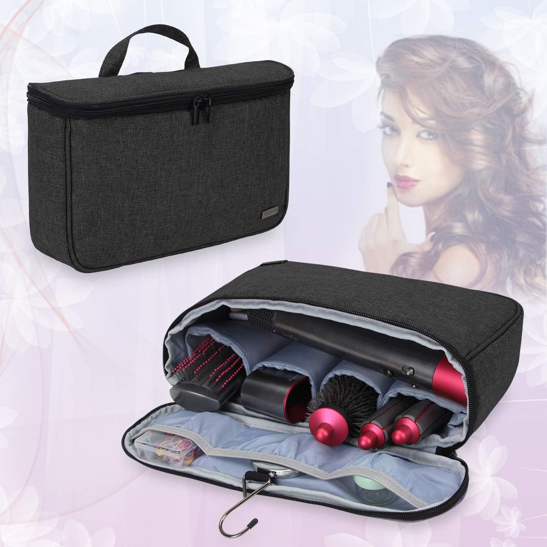 Teamoy portátil del Viaje Bolsa de para Dyson Airwrap Styler, Ideal para Viajes y Almacenamiento en el hogar, Negro