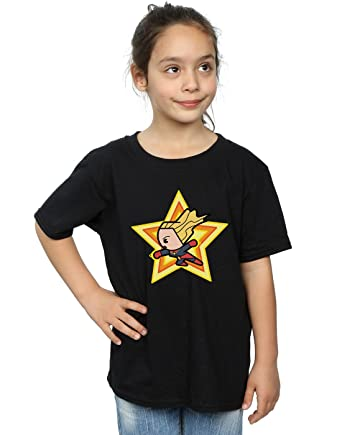 623de7aa3 Amazon.com: Marvel Girls Kawaii Captain Marvel T-Shirt: Clothing