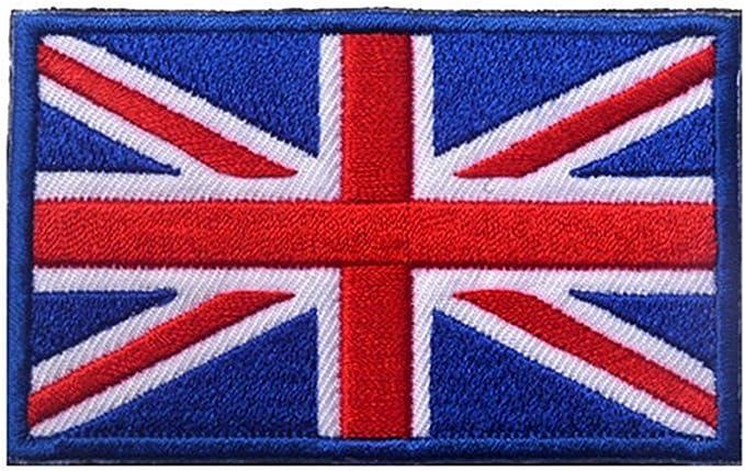 KingNew Parches Bordados con Bandera de Reino Unido, Banderas británicas para Ropa, Lado Azul: Amazon.es: Electrónica