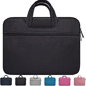 "14-15 Inch Laptop Sleeve Case, Waterproof Portable for Apple MacBook Pro 15.4""/15"", Acer Chromebook 14"",Acer Aspire One 14"",HP Stream 14,Asus Dell Toshiba Lenovo Chromebook 14 Inch Notebook Bag,Black"