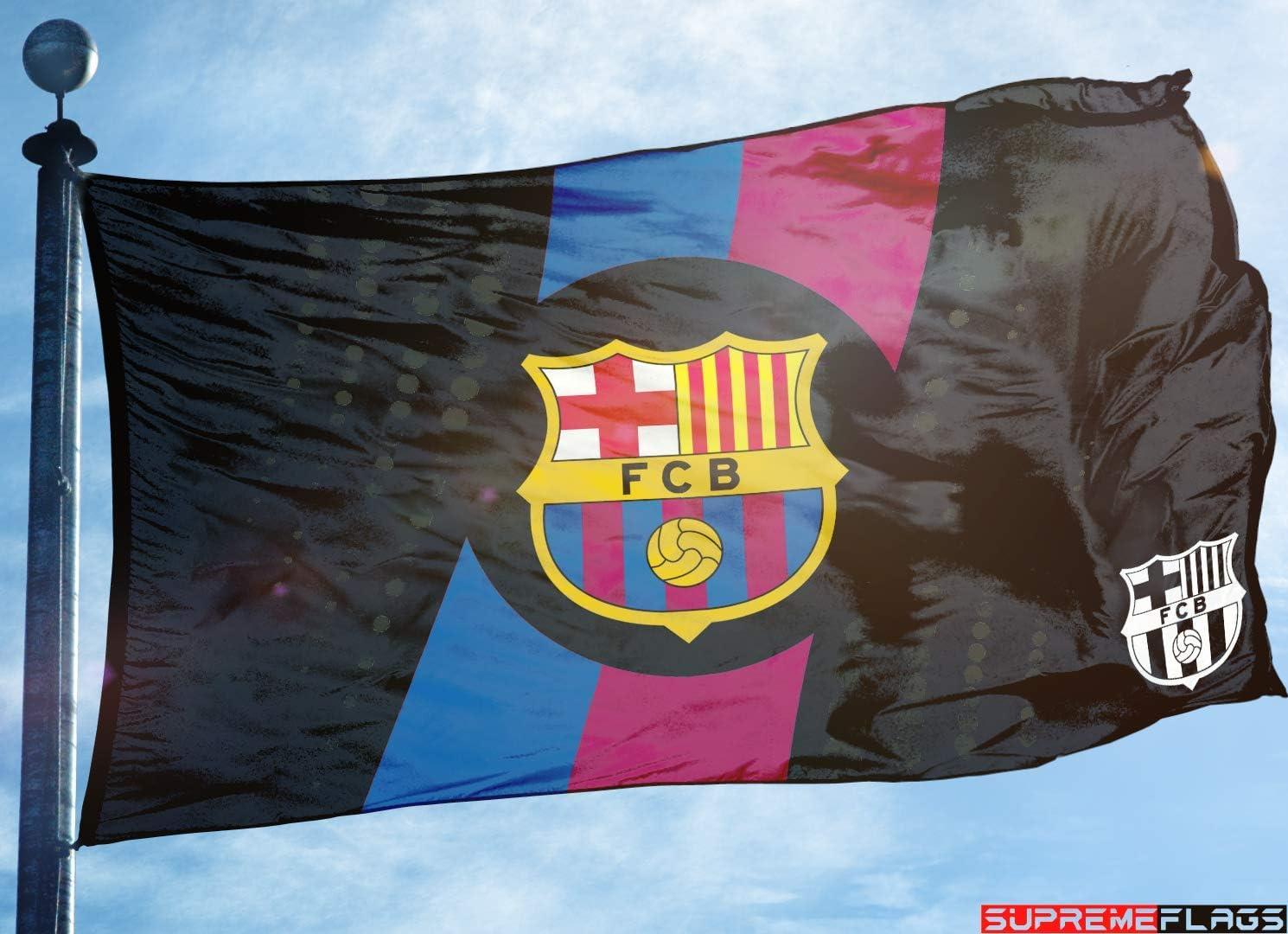 Bandera de Barcelona de 3 x 5 pies con diseño del FC de fútbol de España, Color Negro: Amazon.es: Deportes y aire libre