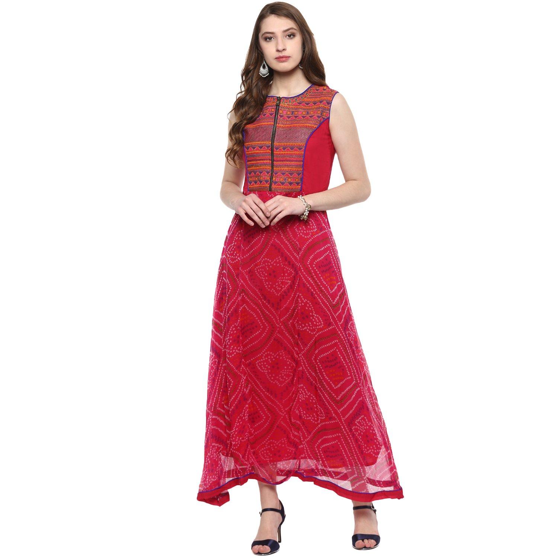 5e4d3f1e62d Vedic Women s Kurta(832-RANI-L Pink Large)  Amazon.in  Clothing    Accessories