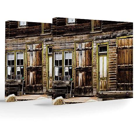 iPrint - 2 paneles de lona elástica enmarcado, decoración ...