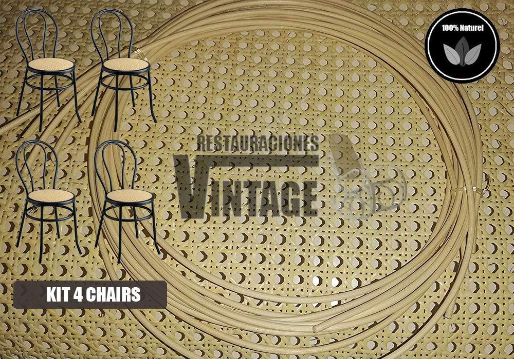 Restauraciones Vintage Kit Rejilla Mimbre x4 sillas: Amazon ...