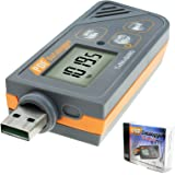 Digital USB Datalogger Humidity/Temperature/Pressure Barometric Data Logger gauge, Plug and play, Generate PDF & Excel, 6 languages,pHa,inHg, ℉, ℃ and RH