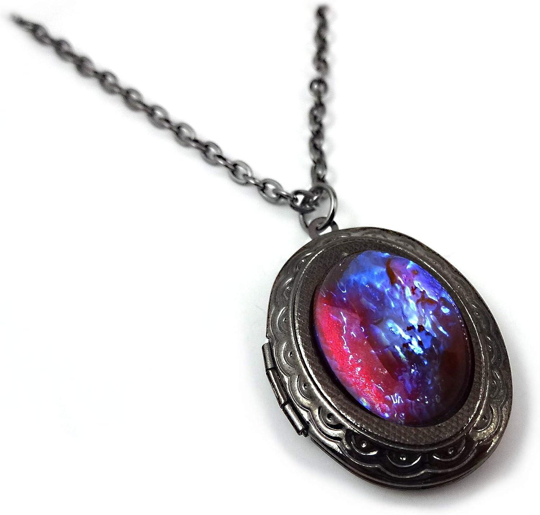 Dragons Breath Opal Locket Customized Locket