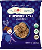 MySuperSnack Organic Granola Bites (Blueberry Acai) - 12 Snack Packs, Healthy Snacks for Kids, Nut Free