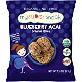MySuperSnack Organic Granola Bites (Blueberry Acai) - 12 Snack Packs, Healthy Snacks for Kids, Nut Free