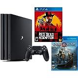 PlayStation 4 PRO Red Dead God War Bundle: RED Dead Redemption 2, God War, PlayStation 4 PRO 4K HDR 1TB Console