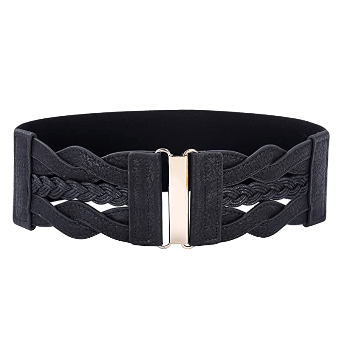 Grace Karin Women Plus Elastic Stretchy Retro Wide Waist Cinch Belt by Paul+Jones