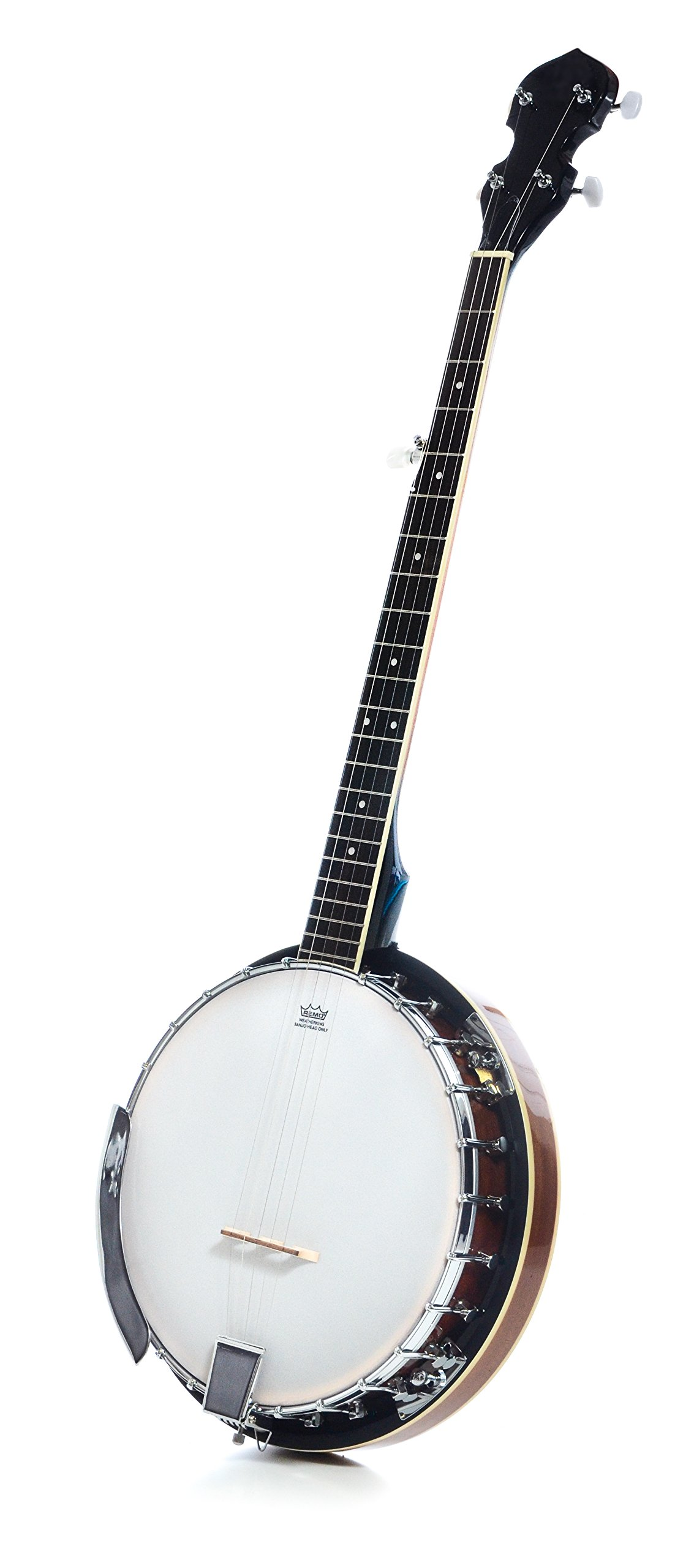 5 String Resonator Beginner Banjo with 24 Brackets | Closed Back and Geared 5th Tuner | Resoluute