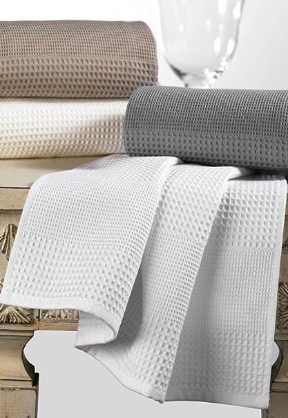 Toallas de nido de abeja de Lujo de 350 gr - Shower Towel, blanco: Amazon.es: Hogar