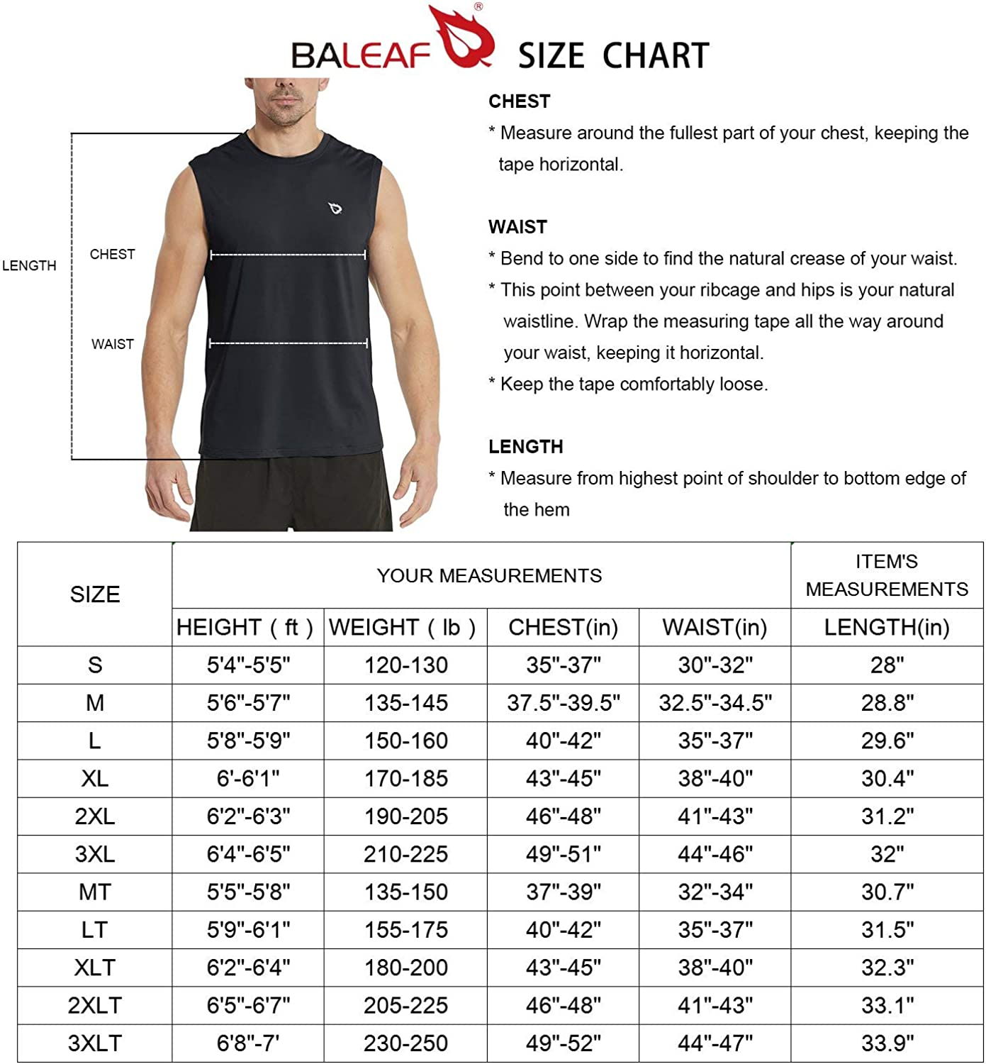 BALEAF Men's Sleeveless Tank Top Quick Dry Muscle t Shirts Gym Workout Bodybuilding Running Tech Tops: Clothing