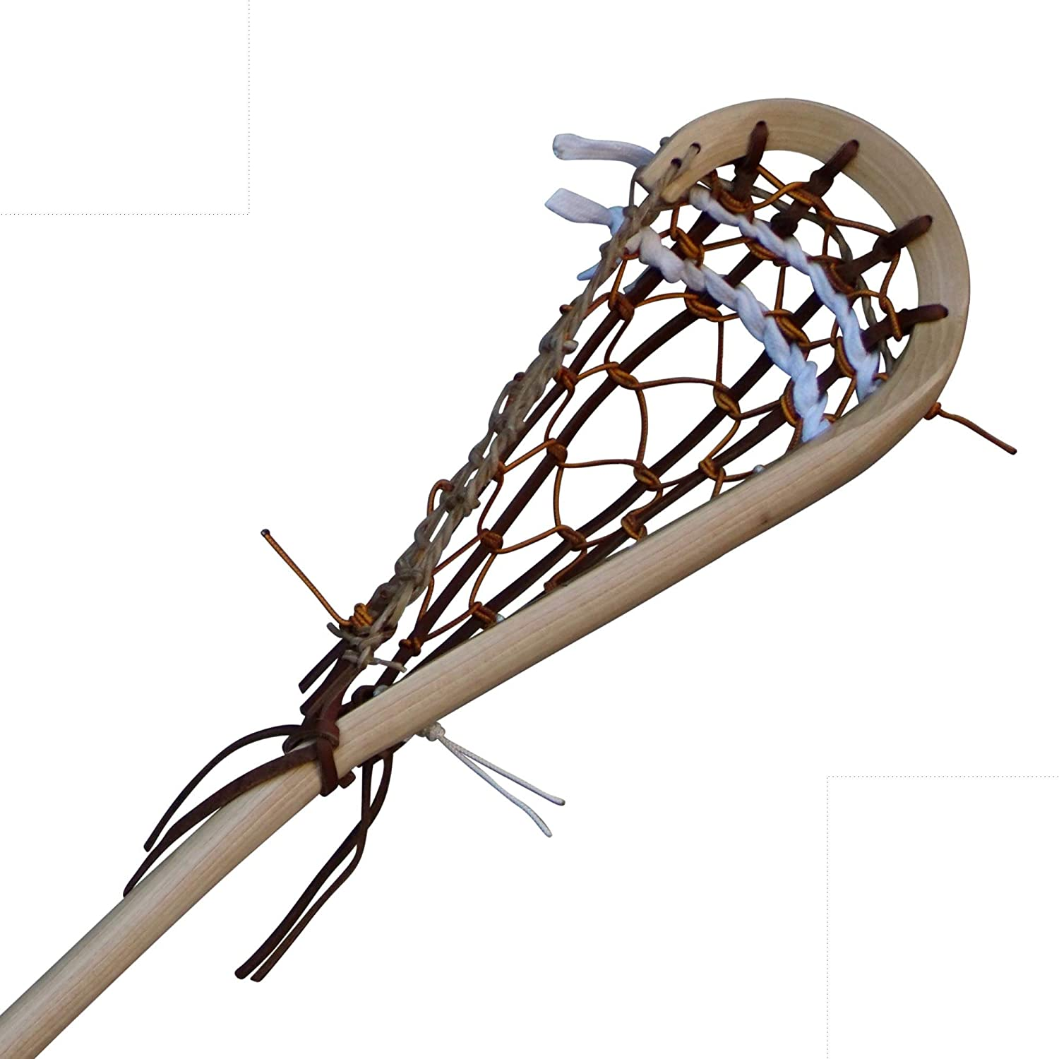 Wooden Lacrosse Stick - BOX PRO - Boot Lace - by Justin Skaggs
