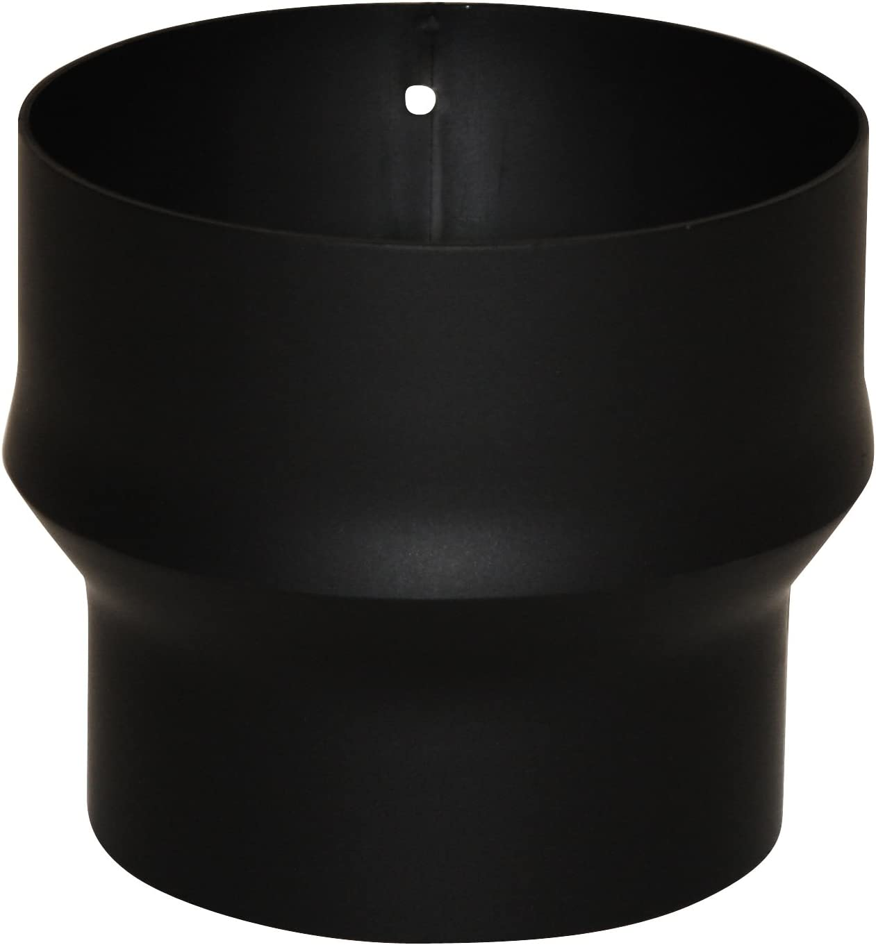 Noir 120 mm//150 mm Tuyau de Raccordement Tube de r/éduction Tuyau de Po/êle env 2 mm /Ø env Kamino-Flam Raccord de R/éduction en acier laqu/é Senotherm Test/é par le Standard EN 1856-2
