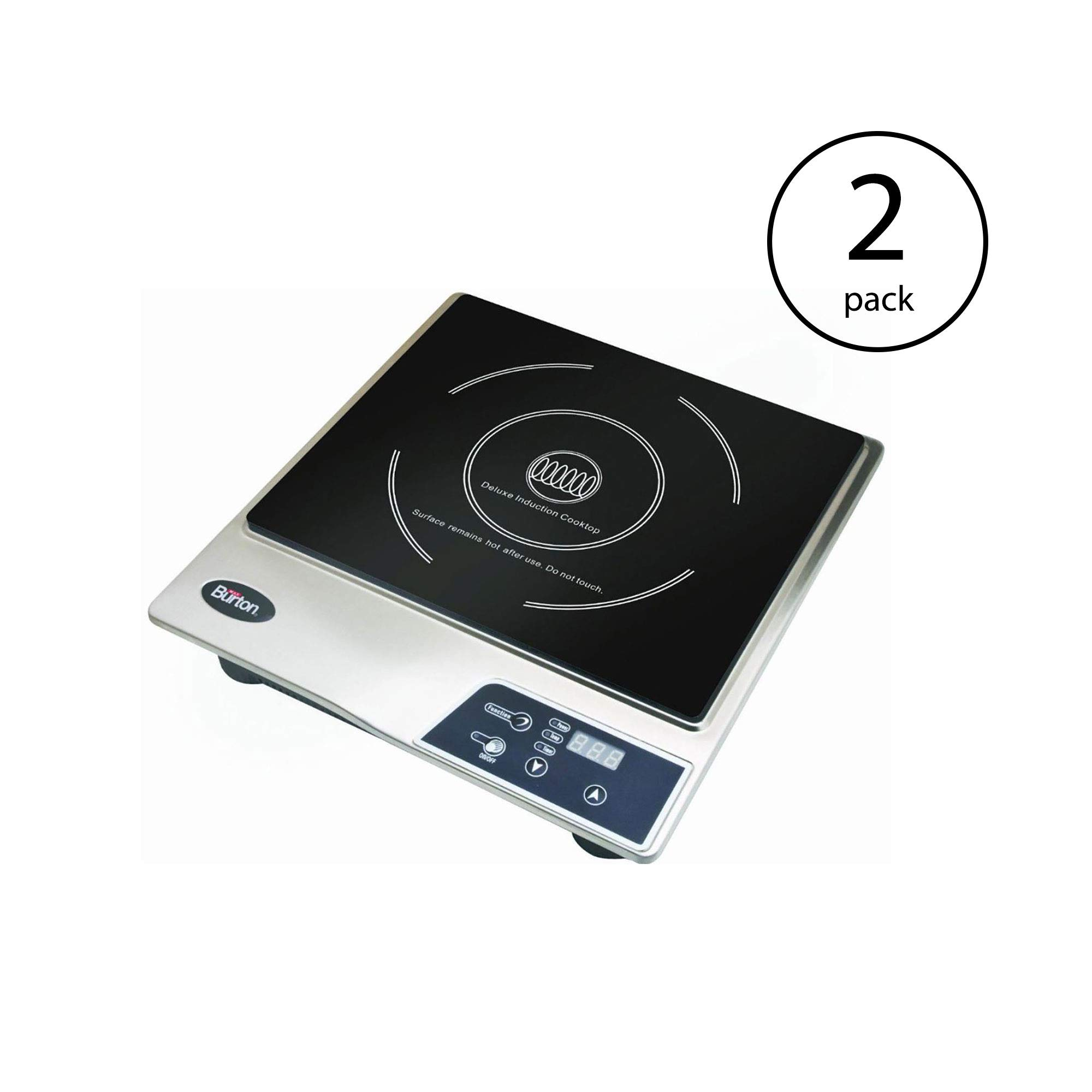 Max Burton Portable Stainless Steel Deluxe Countertop Induction Cooktop Burner (2 Pack) by Sunbeam (Image #1)