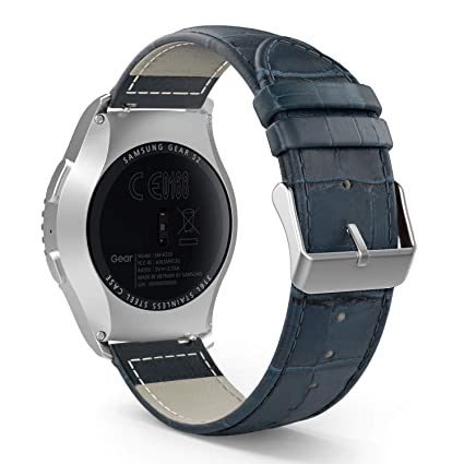 MoKo Band Compatible with Samsung Gear S2 Classic/Galaxy Watch 42mm/Galaxy Watch Active/Active 2/Garmin Vivoactive 3/Ticwatch 2/E, 20mm Leather ...