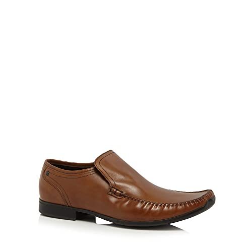 Base London Tan leather 'Acrobat' slip on shoes