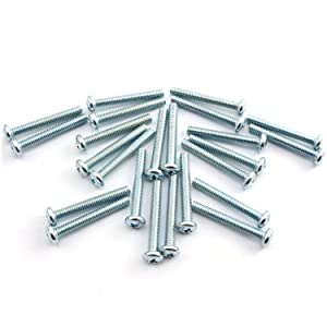 "24pcs 8-32 x 1-1/4"" Machine Screws Metal Mounting Hardware Fitting Fastening Accessories Cross Slotted Round Phillips Head Screw Bolt"