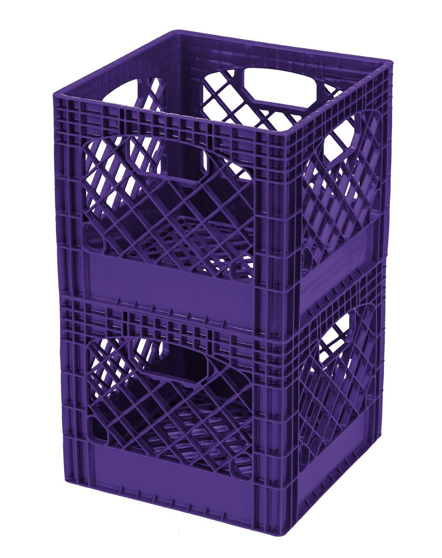 Buddeez MC01016P268C Milk Crates, 16-Quart, Purple, 2-Pack by BUDDEEZ