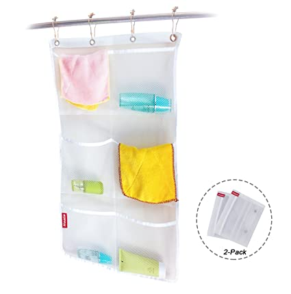 Amazon.com: Honla 2-Pack Hanging Mesh Bath Shower Caddy Organizer ...