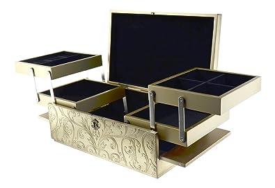 Amazoncom New Large Handmade Gold Jewelry Box Storage Container
