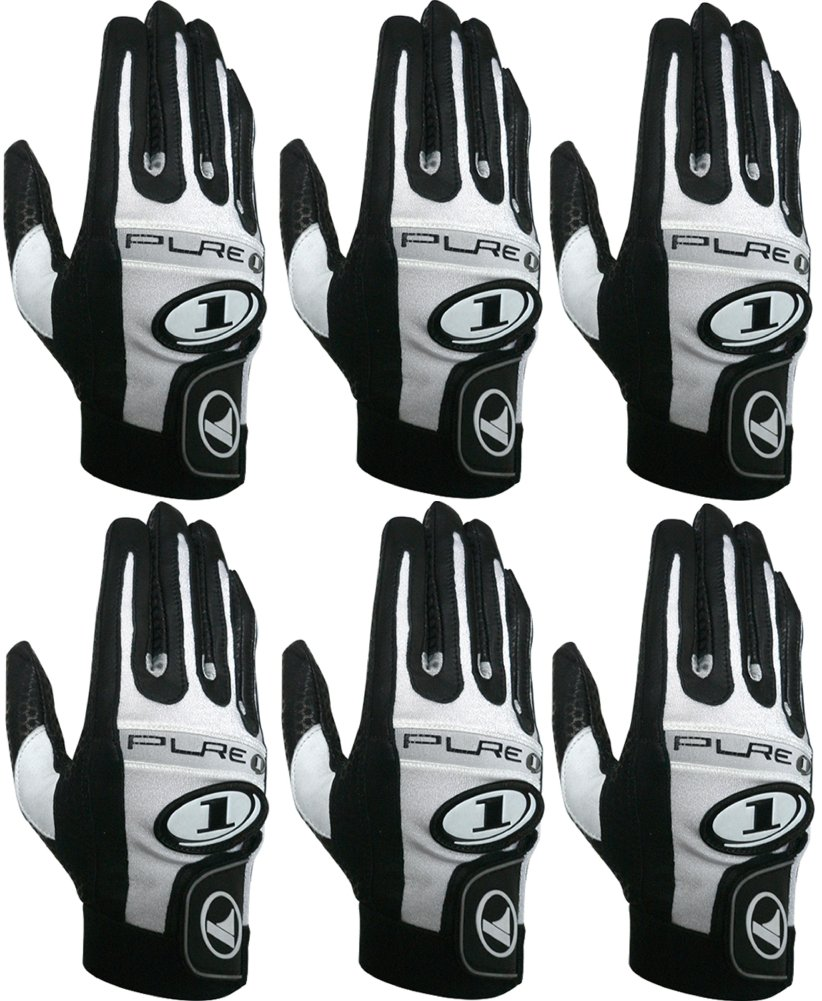 ProKennex Pure 1 Black Right Medium Racquetball (Paddle and Racquet Sports) Glove - Six Pack by ProKenex