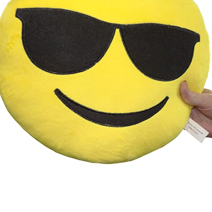 Amazon.com: 32 cm Emoji caca Face Smiley emoticono amarillo ...