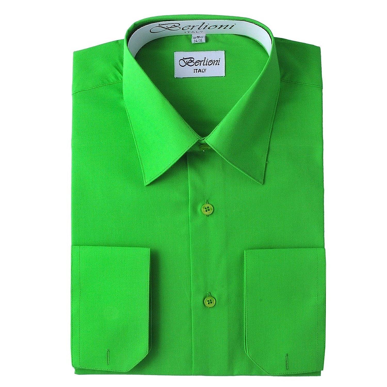 Elegant Men's Button Down Apple Green Dress Shirt (2xl 18/18.5 36 ...