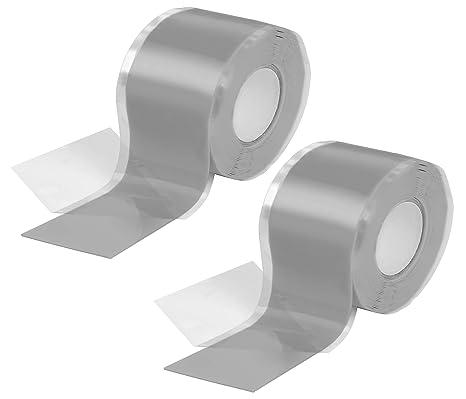 Isolierband und Dichtungsband Poppstar 3m selbstverschwei/ßendes Silikonband 50mm breit Wasser, Luft grau Silikon Tape Reparaturband