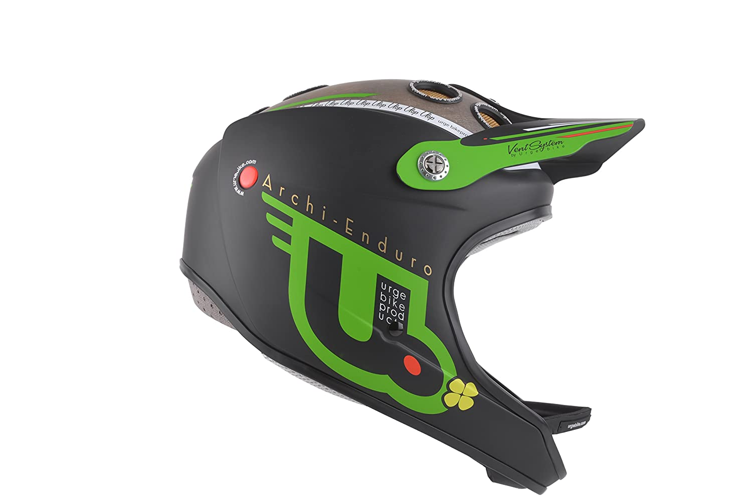 Urge Archi Enduro Casco Integral, Color Negro/Verde, tamaño L/XL (58/60cm): Amazon.es: Deportes y aire libre