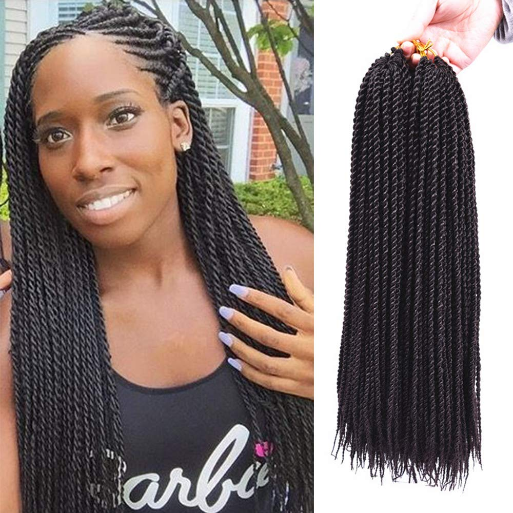 Amazon Com 3packs 18 Senegalese Twist Crochet Hair Braids Small