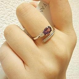 Amazon Nuvazu レディース 天然石 アメジスト シルバー925 リング 金属アレルギー対応 フリー サイズ 婚約指輪 アメジスト指輪 リング 通販
