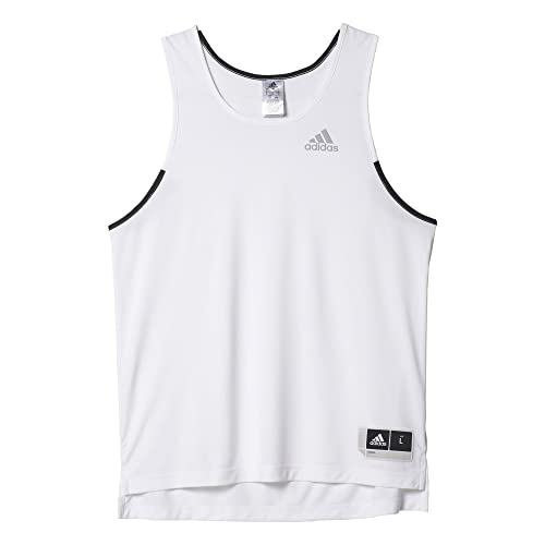 adidas Commander Jerse Camiseta sin Mangas de Baloncesto, Hombre, Blanco (Blanco / Grasua