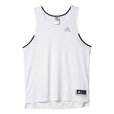 adidas Commander Jerse Camiseta sin Mangas de Baloncesto, Hombre ...